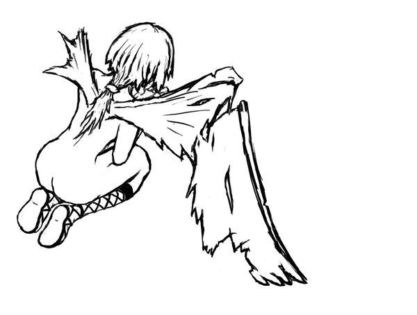 how to draw broken wings